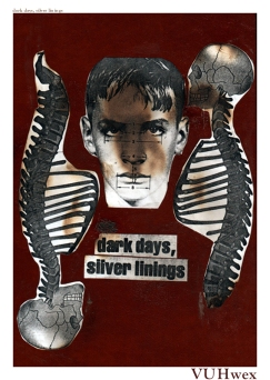 2000 - Dark Days, Silver Linings - Traditional Collage on Book Cover